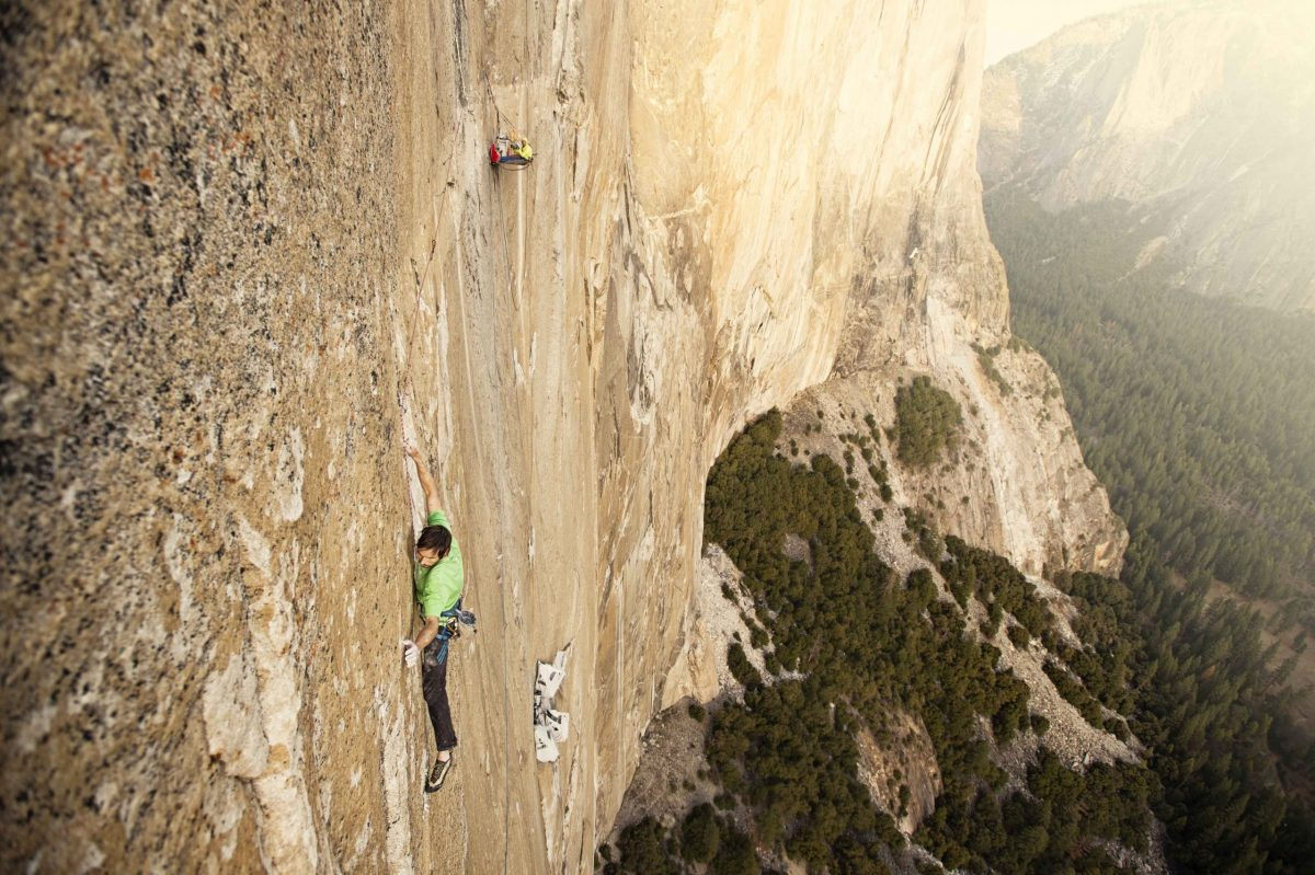 Kevin Jorgeson climbing The Dawn Wall