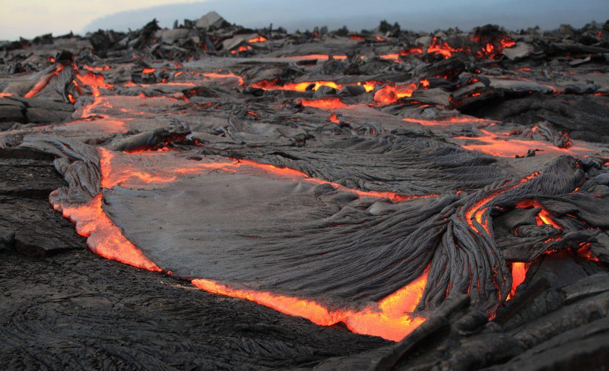 Volcanoes Lava Flow