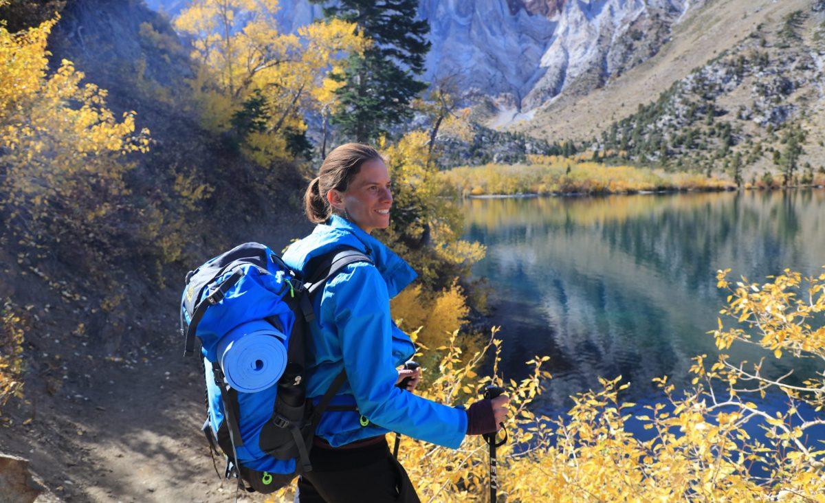 Jennifer Pharr Davis – Professional hiker, Jennifer Pharr Davis, admires the crisp beauty of an autumn morning near Mammoth Lakes.