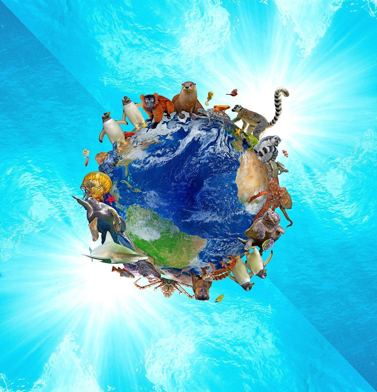 Global Passport logo featuring animals surrounding a globe
