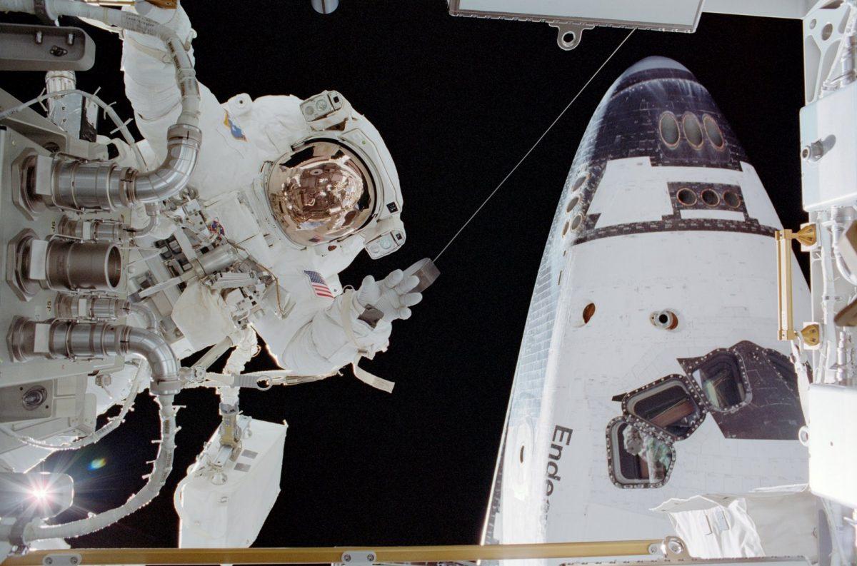 Commander John Harrington seen on International Space Station