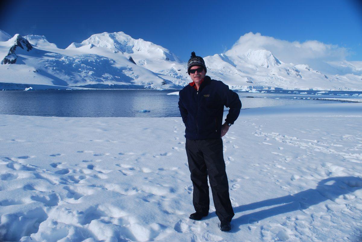 Dr, James McClintock in Antarctica